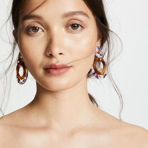 Lele Sadoughi Banded Hoop Earrings